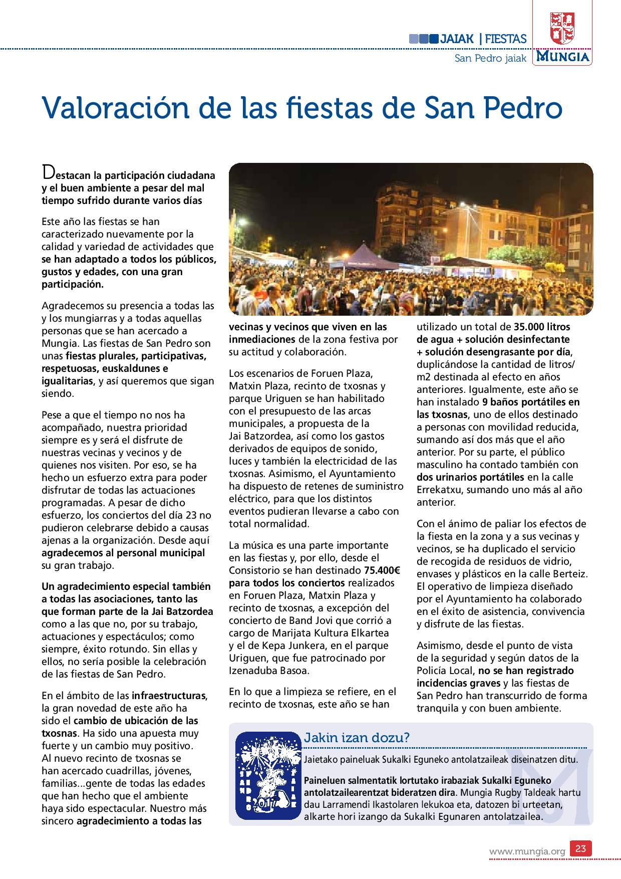 Mungiarra 58 pg23 valoracion de las Fiestas de San Pedro
